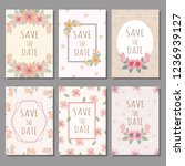 wedding cards and valentine... | Shutterstock .eps vector #1236939127
