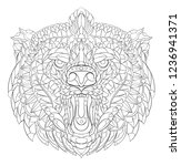patterned head of roaring bear. ... | Shutterstock .eps vector #1236941371