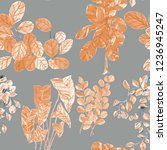 creative seamless pattern with... | Shutterstock . vector #1236945247