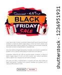 black friday sale 45 percent... | Shutterstock .eps vector #1236951931
