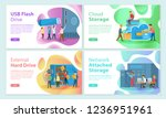 usb flash storage cloud ... | Shutterstock .eps vector #1236951961