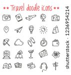 travel doodle icons | Shutterstock .eps vector #1236954214