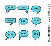 blue dialog  speech bubble set | Shutterstock .eps vector #1236957397