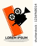 movie and film poster design...   Shutterstock .eps vector #1236968014