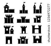 castle  kingdom ion vector | Shutterstock .eps vector #1236972277