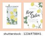 botanical wedding invitation...   Shutterstock .eps vector #1236978841
