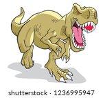 tyrannosaurus rex vector... | Shutterstock .eps vector #1236995947