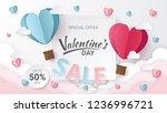 valentines day sale background... | Shutterstock .eps vector #1236996721
