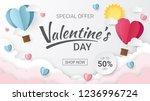valentines day sale background... | Shutterstock .eps vector #1236996724