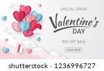 valentines day sale background... | Shutterstock .eps vector #1236996727