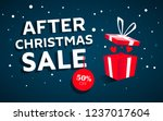 after christmas sale concept...   Shutterstock .eps vector #1237017604