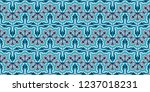 talavera pattern.  indian... | Shutterstock .eps vector #1237018231