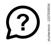 question mark outline icon... | Shutterstock .eps vector #1237020034