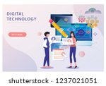 set of business such as data...   Shutterstock .eps vector #1237021051