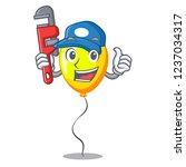 plumber yellow balloon isolated ... | Shutterstock .eps vector #1237034317