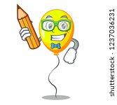student yellow balloon air in... | Shutterstock .eps vector #1237036231