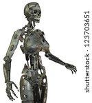 3d rendering of a female robot | Shutterstock . vector #123703651