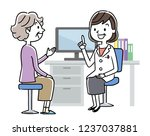 examination  female doctor and... | Shutterstock .eps vector #1237037881