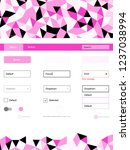 light pink vector ui ux kit in...