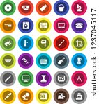 white solid icon set  fetlock... | Shutterstock .eps vector #1237045117
