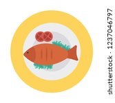 fish  seafood   plate     Shutterstock .eps vector #1237046797