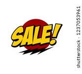 sale sign market store theme... | Shutterstock .eps vector #1237053961