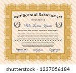 orange certificate diploma or...   Shutterstock .eps vector #1237056184
