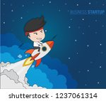 business startup concept ... | Shutterstock .eps vector #1237061314