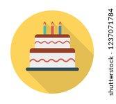 cake  sweet  birthday   | Shutterstock .eps vector #1237071784