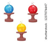 magic crystal ball  vector   Shutterstock .eps vector #1237076647