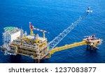 aerial view industrial offshore ... | Shutterstock . vector #1237083877