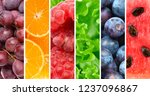 background of fresh fruits and... | Shutterstock . vector #1237096867