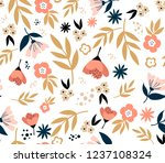 floral seamless pattern with...   Shutterstock .eps vector #1237108324