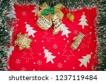 christmas background with toys | Shutterstock . vector #1237119484