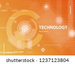 abstract yellow background in... | Shutterstock .eps vector #1237123804