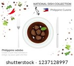 philippine cuisine. asian... | Shutterstock .eps vector #1237128997
