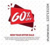60  discount sale off 60 ... | Shutterstock .eps vector #1237131334