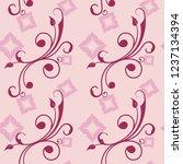 seamless simple rose flower... | Shutterstock .eps vector #1237134394