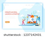 business startup landing page...   Shutterstock .eps vector #1237142431