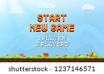 start new game background.... | Shutterstock .eps vector #1237146571