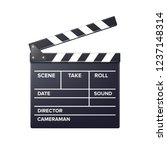 vector realistic movie clapper... | Shutterstock .eps vector #1237148314