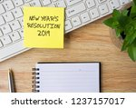 new year resolutions 2019... | Shutterstock . vector #1237157017