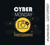 graphics on cyber monday with a ... | Shutterstock .eps vector #1237159507