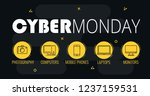 graphics on cyber monday with a ... | Shutterstock .eps vector #1237159531