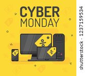 graphics on cyber monday with a ... | Shutterstock .eps vector #1237159534