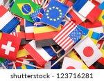 world flags little flags of...   Shutterstock . vector #123716281