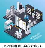 microbiology laboratory... | Shutterstock .eps vector #1237175371
