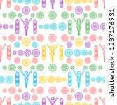 seamless pattern with zipper ... | Shutterstock .eps vector #1237176931