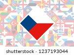flag background of european... | Shutterstock .eps vector #1237193044
