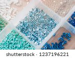 box with beads. handicraft.... | Shutterstock . vector #1237196221
